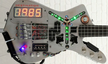 Sweet: A Back To The Future Time Traveling DeLorean Inspired Bass Guitar