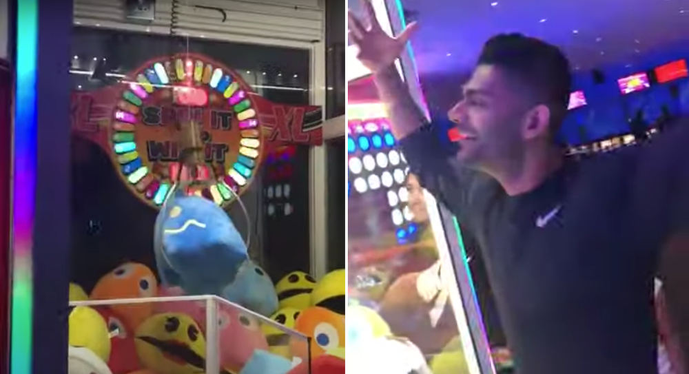 Guy Denied Claw Machine Win At Last Moment