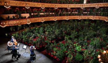 Barcelona Opera House Reopens To Concert For 2,292 Plants