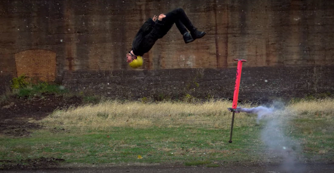 Oh Wow: The World's Best Extreme Pogo-Stickers In Slow Motion