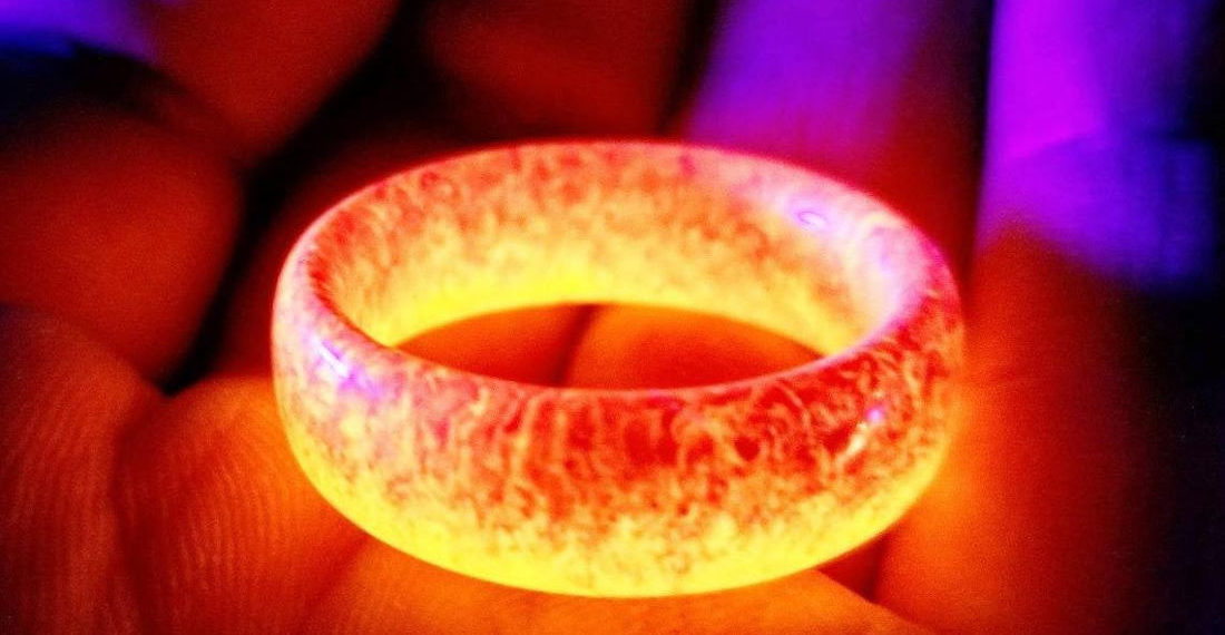 My Precious: 'Ring Of Fire' Glowing Resin Rings