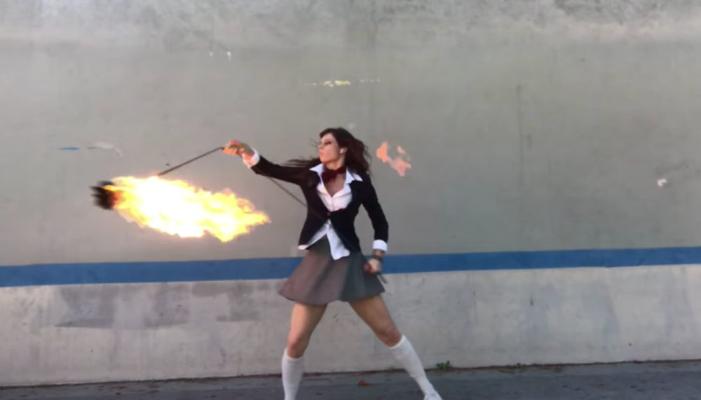 I Am Into This: Woman's Kill Bill Fire Rope Dart Choreography