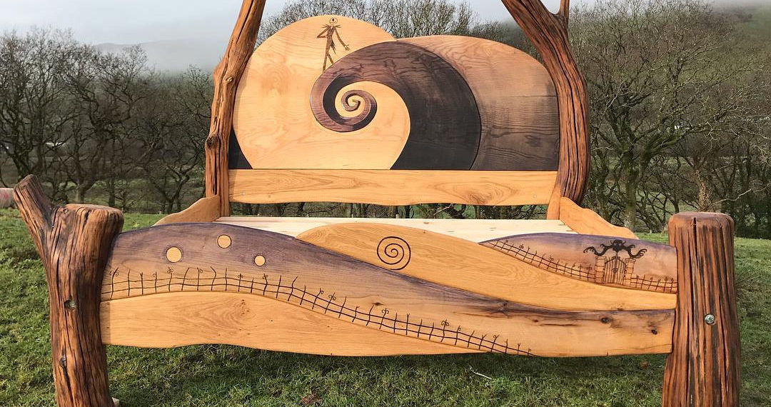 A Nightmare Before Christmas Inspired Wooden Bed