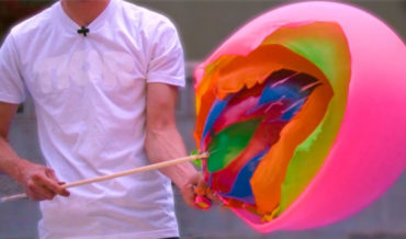 Popping Balloons Inside Balloons In Ultra Slow Motion