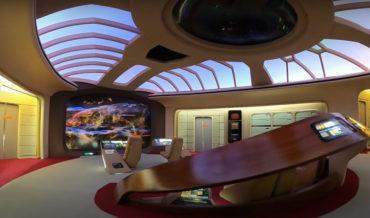 Model Maker Creates Incredibly Impressive Miniature Of USS Enterprise Bridge