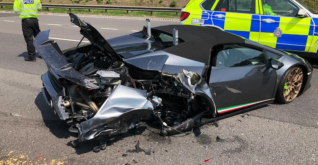 Womp Womp: $300,000 Lamborghini Totaled 20 Minutes After Purchase