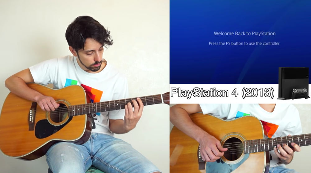 Guy Attempts To Make Various Video Game Console Sounds On Guitar