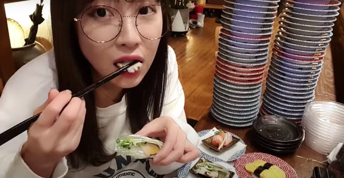 Woman Eats 100 Plates Of Sushi Off Sushi Conveyor Belt In One Sitting