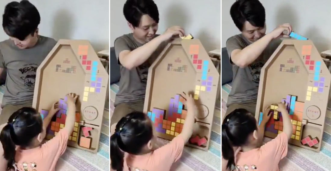 Awww: Father Builds Analog Tetris Game For Young Daughter