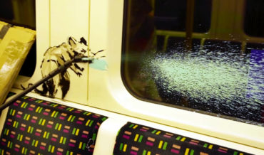 Video Of Banksy Disguised As Deep Cleaner To Graffiti London Underground Subway