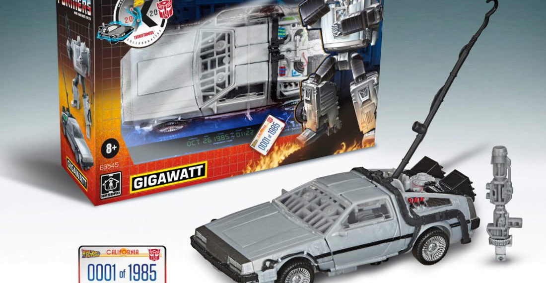Gigawatt, The Back To The Future Time Traveling DeLorean Transformer Toy