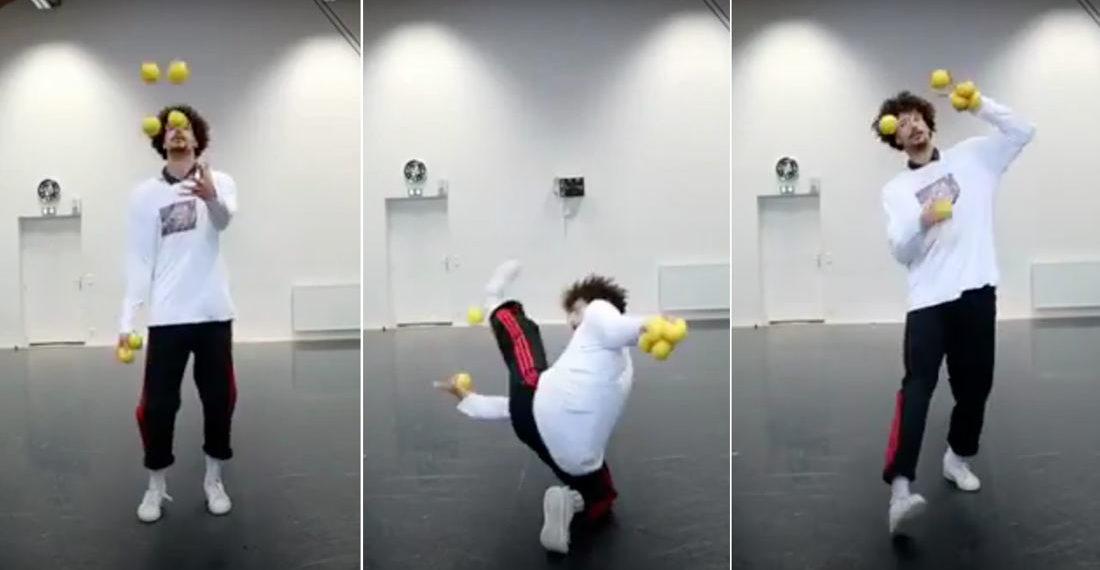 Skills: Guy's Unorthodox Juggling Routine