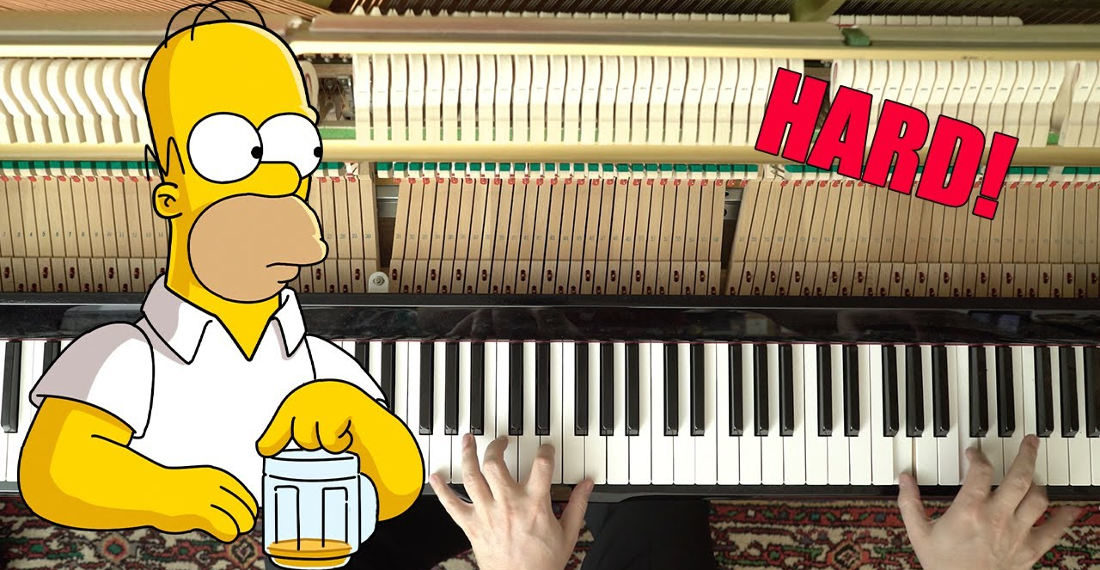 Man Performs Difficult Arrangement Of The Simpson Theme For Piano