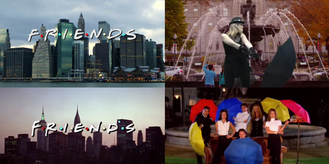 Oh Wow: The Friends Intro Recreated Entirely With Stock Footage