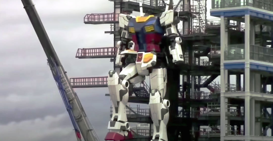 Oh Wow: Japan's 60-Foot Gundam Nears Completion, Takes Test Steps