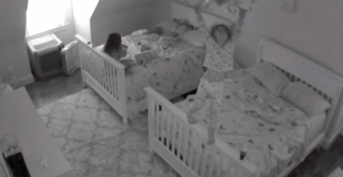 Whee!: Nursery Camera Captures Toddler Swinging From Chandelier
