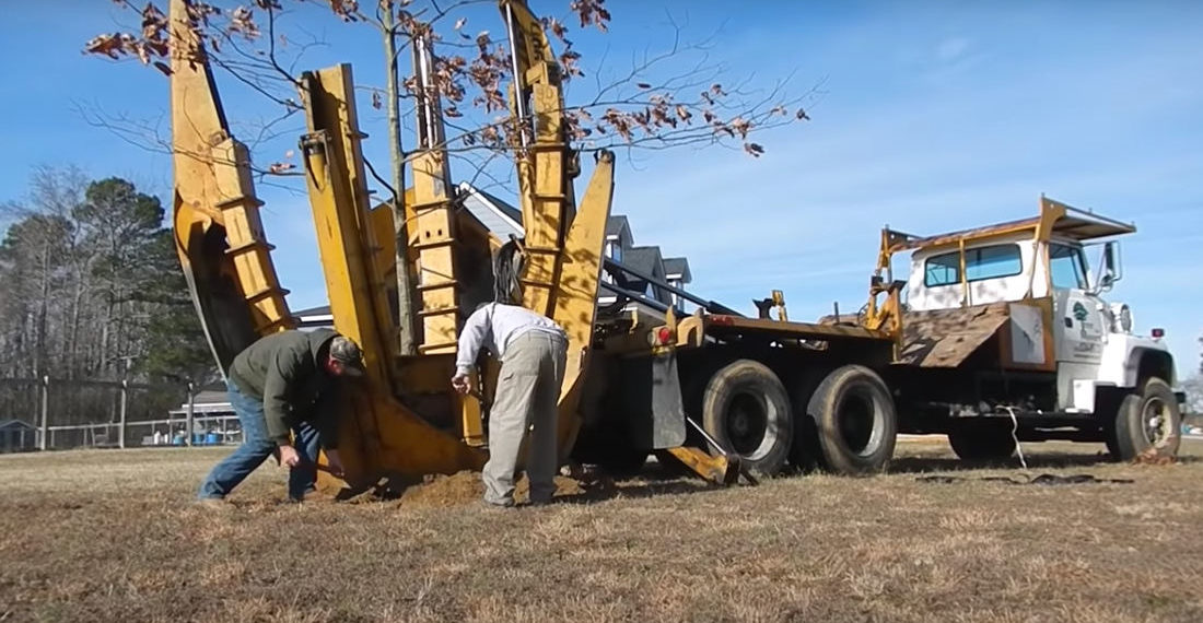 Man Keeps Promise To Younger Self,  Moves Oak Tree He Planted As A Child To New House 20 Years Later