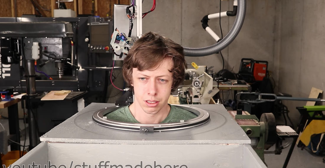 Bad Ideas: Engineer Builds Robot To Cut His Hair With Actual Scissors