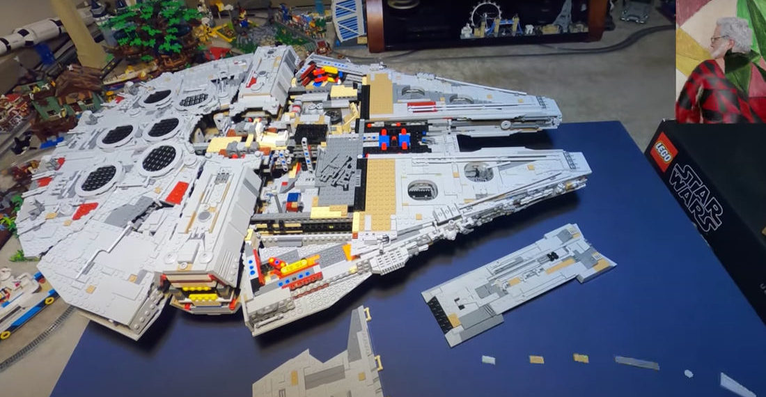 Stop Motion Video Of The Giant 7,541 Piece LEGO Millennium Falcon Being Assembled With The Force