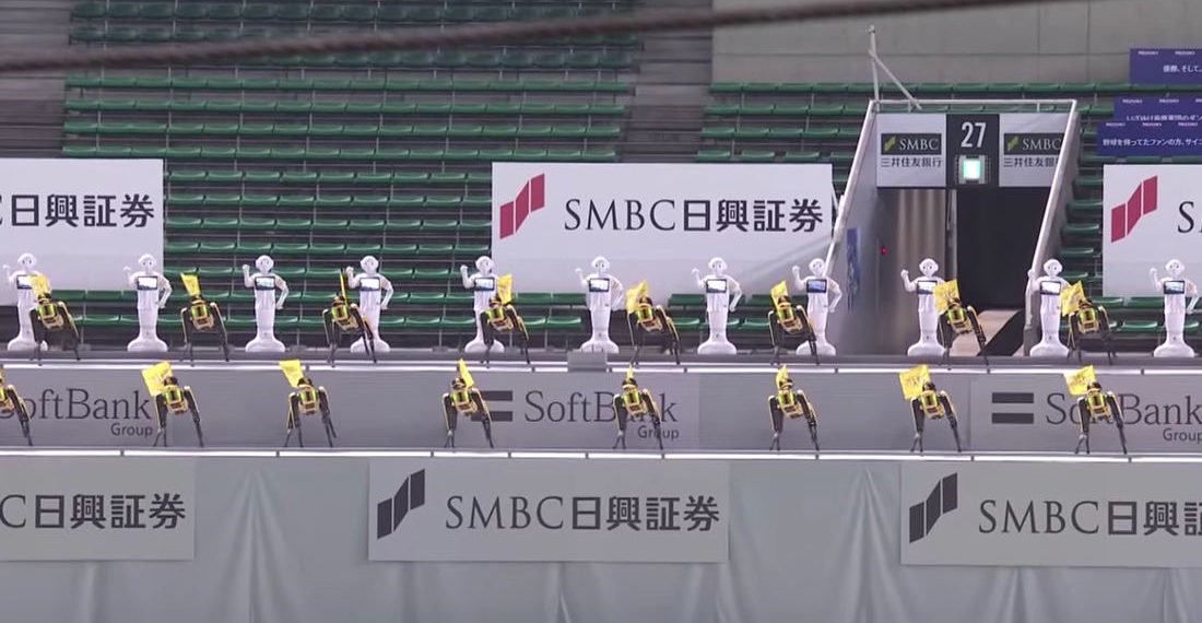 Boston Dynamics' Spot Robots Join Pepper Humanoid Robots To Cheerlead At Japanese Baseball Games