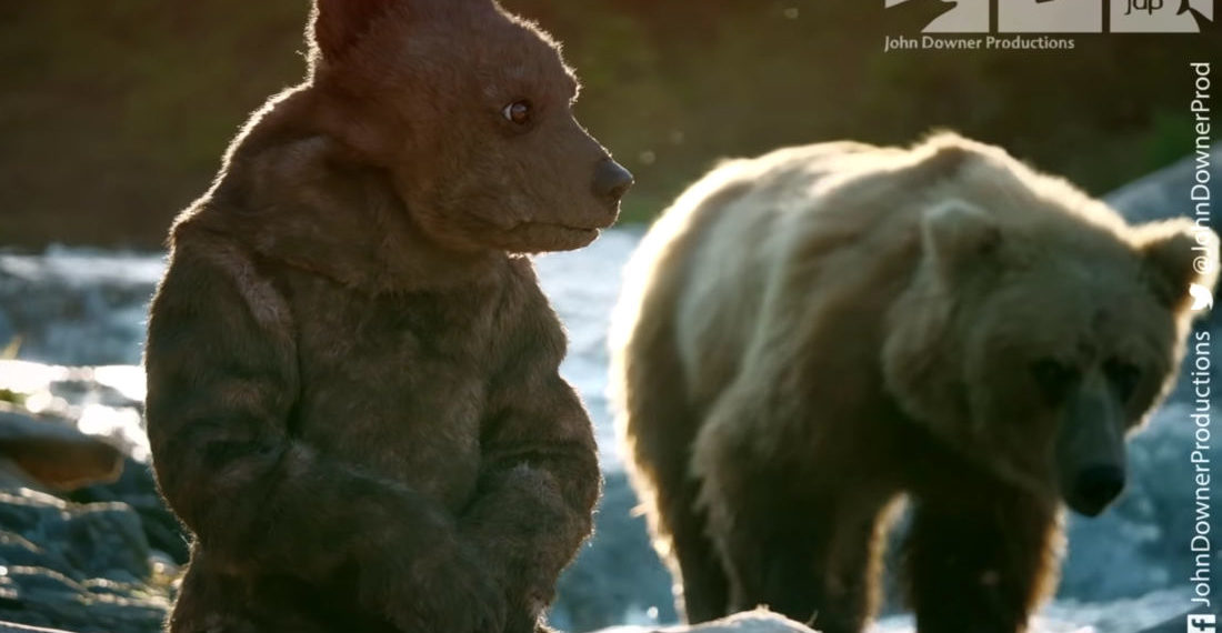 Robotic Spy Bear Cub And Bald Eagle Drone Record Wild Grizzlies Going Fishing