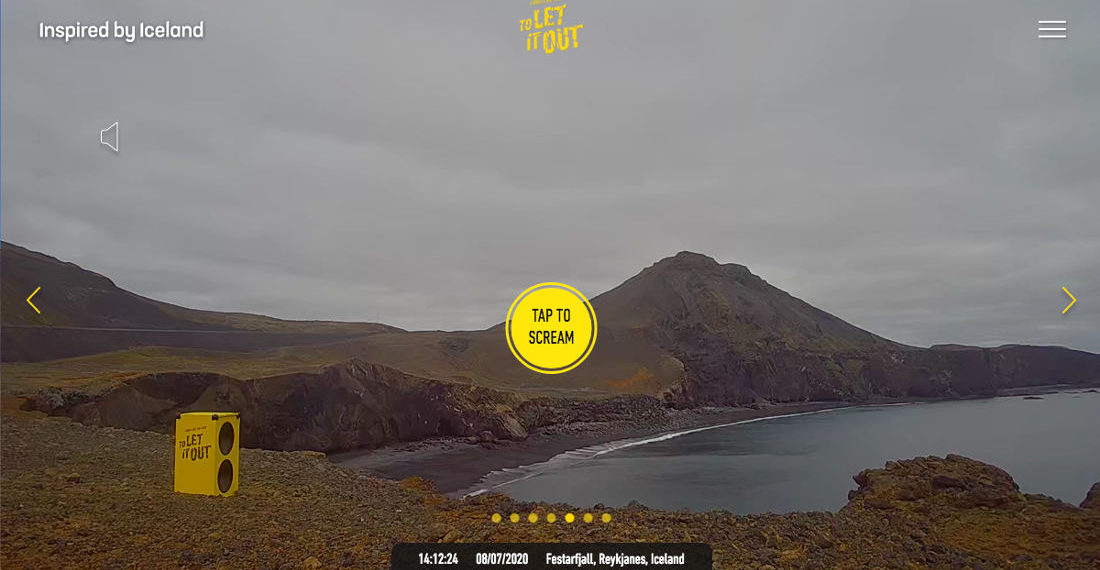 Send Your Scream To Play On A Speaker In Iceland
