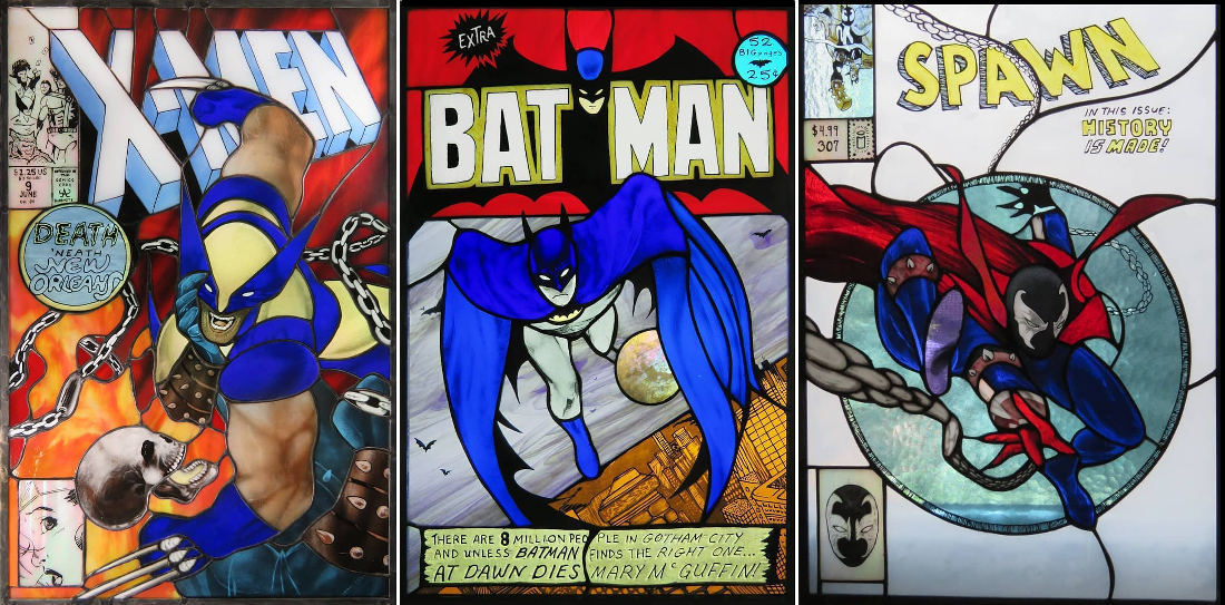 Gallery Of Artist's Incredible Comic Book Stained Glass Art
