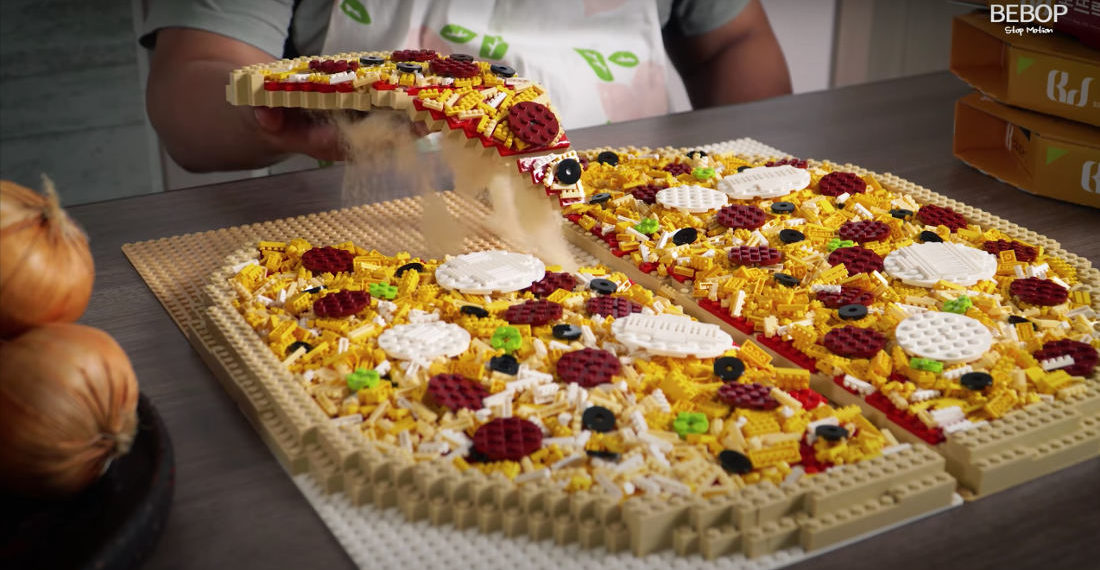 Mmmm, My Two Favorites: Cooking A LEGO Pizza In Stop-Motion