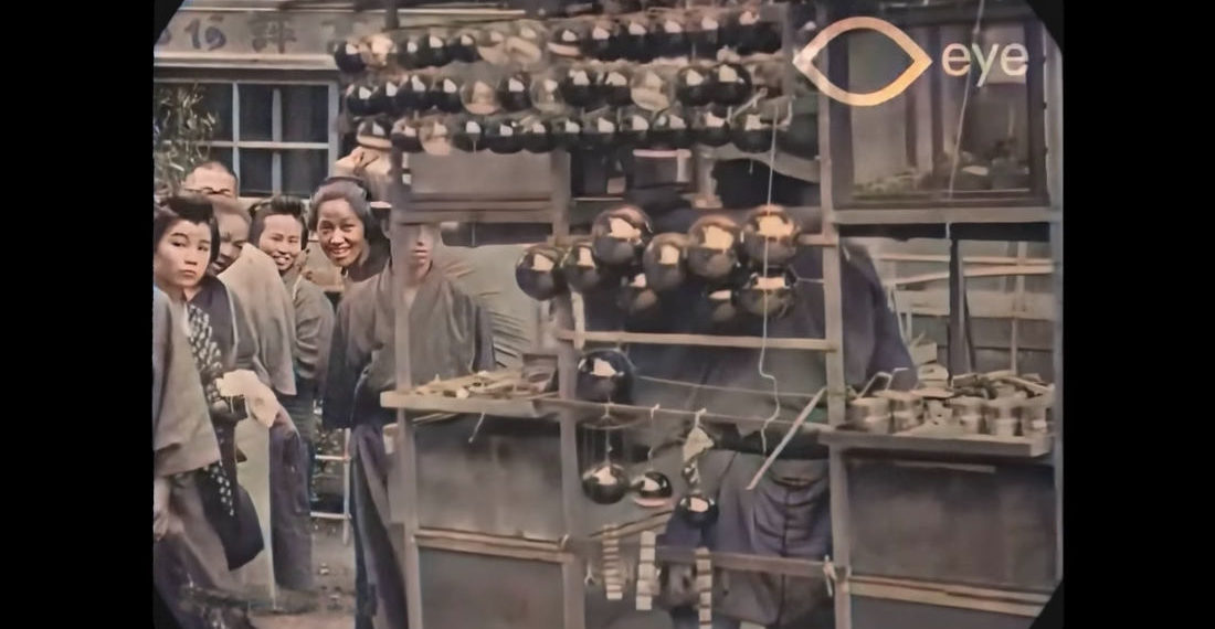 Whoa: Footage From Tokyo Japan 1913-1915 That's Been Upscaled To 4K, 60FPS, Colorized