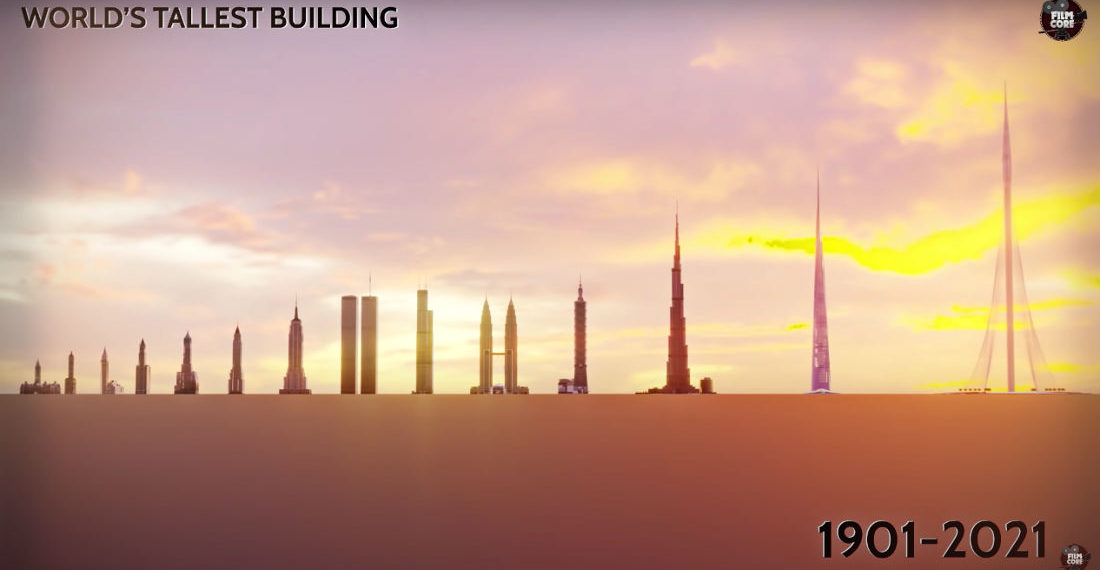 The Evolution Of The World's Tallest Buildings, Visualized