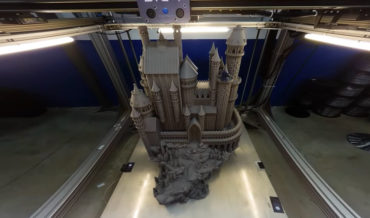 Giant 3-D Printer Printing A 39-Inch Tall Castle Model