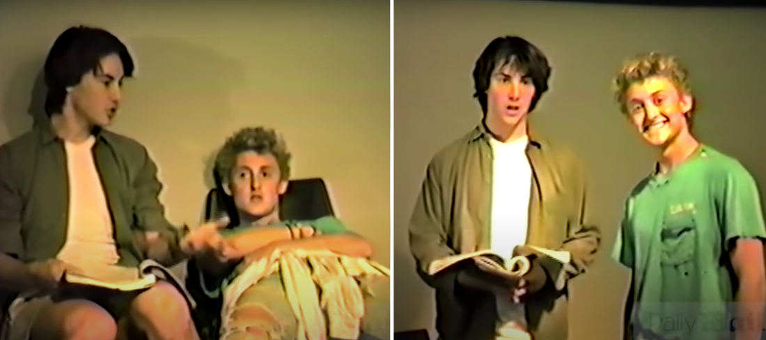 Keanu Reeves' & Alex Winter's 1986 Audition For Bill & Ted's Excellent Adventure