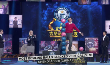 Setting The World Record For Most Bowling Balls Stacked Vertically