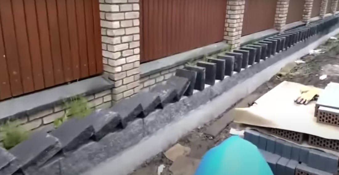 The Ol' Domino Effect Method Of Setting A Stone Wall Top