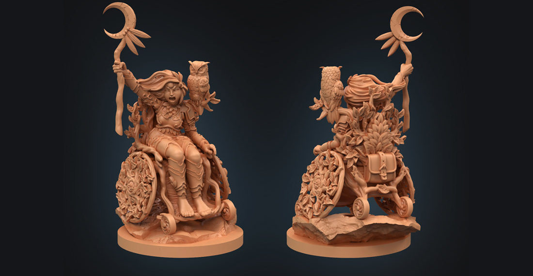 Awesome Tabletop Gaming Character Miniatures In Wheelchairs