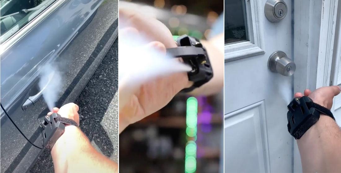 Guy Builds Homemade Web Slinger Style Hand Sanitizer Sprayers