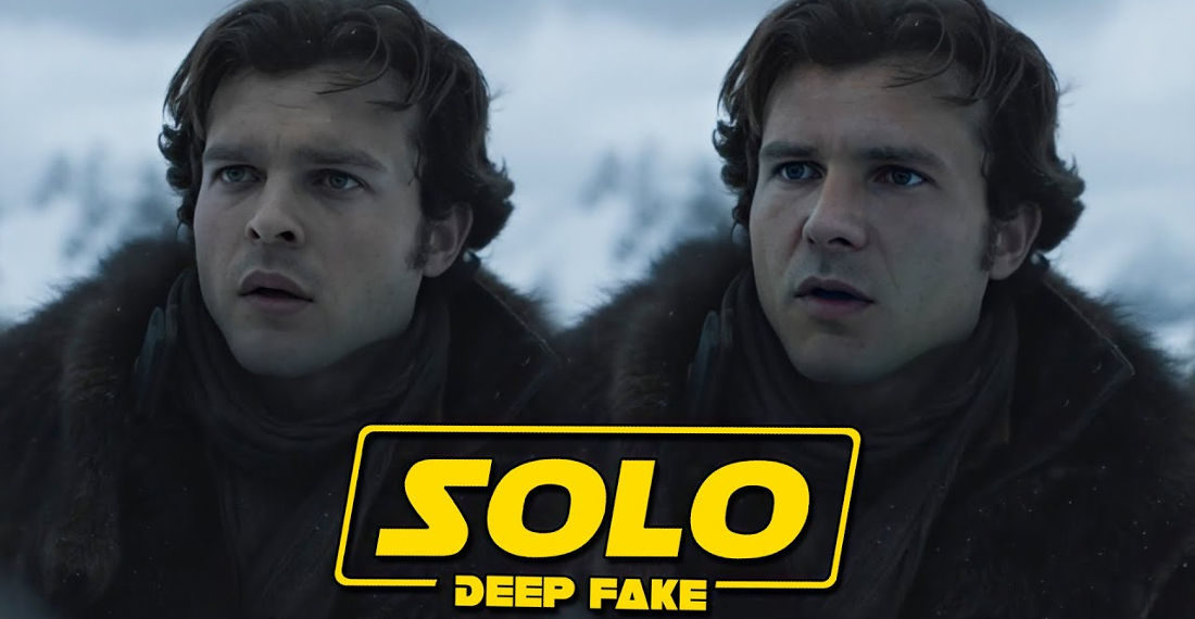 Harrison Ford Deepfaked As Han Solo In Solo: A Star Wars Story