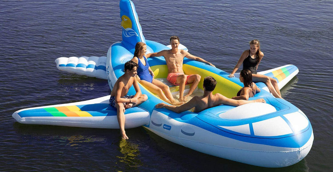 I'm Flying, Jack!: Giant Inflatable Airplane 7-Person Water Float