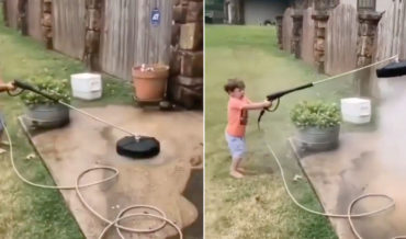 To Infinity And Beyond!: Little Kid Versus Pressure Washer Surface Cleaner