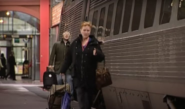 Man In Live News Report Footage Goes Nuts After Missing Train