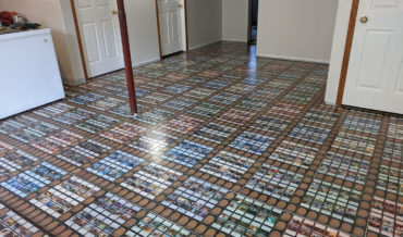 Couple Covers Basement Floor In Magic: The Gathering Cards