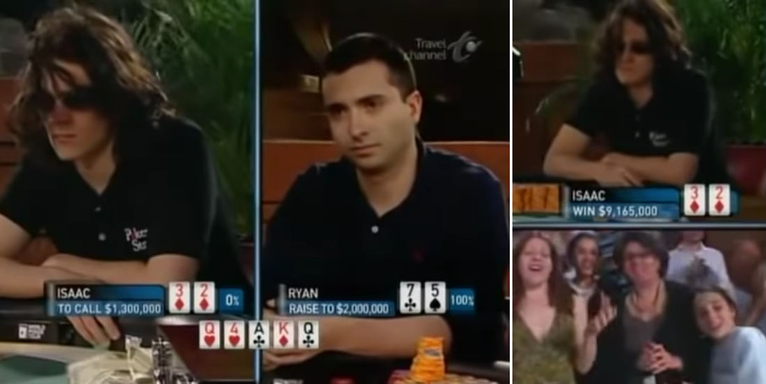 Guy With 0% Poker Hand Bluffs His Way To A Win