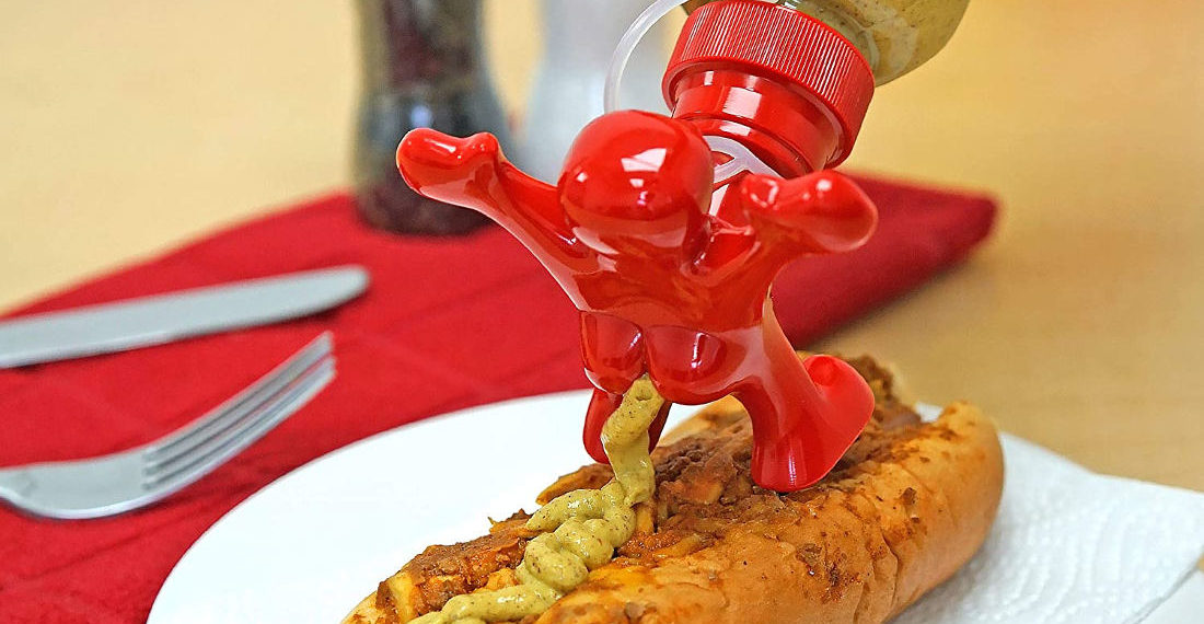 Real Products That Exist: The 'Running Behind' Condiment Bottle Topper
