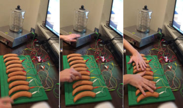 Sing Us A Sausage, You're The Piano Man: Guy Makes Piano Out Of Sausages