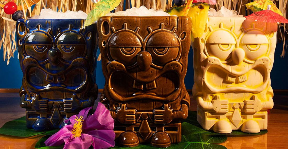 The Perfect Match: SpongeBob And Patrick Tiki Mugs