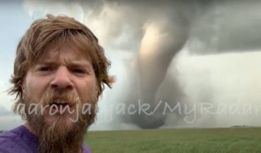 Storm Chaser Gets Up Close And Personal Tornado Footage As It Touches Down