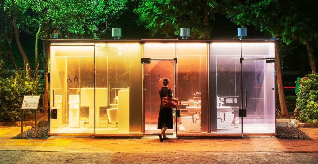 Japan Installs See-Through Restrooms In Park To 'Reassure Anyone Entering The Toilet'