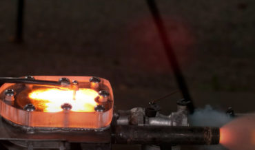 Fire In The Hole!: Blowing Up A Transparent Engine By Feeding It Gunpowder