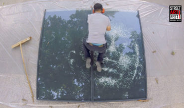 Artist Uses A Hammer To Create Impressive Broken Glass Portraits
