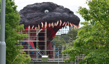 Japan Continues Construction Of Giant Godzilla Statue